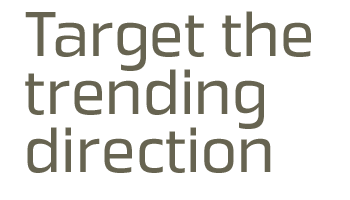 Target the trending direction